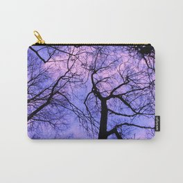 black silhouettes of the trees Carry-All Pouch