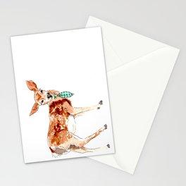 deer in necktie Stationery Cards