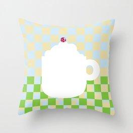 Capuccino Throw Pillow