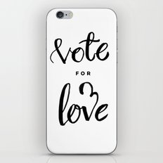 Vote for Love iPhone & iPod Skin