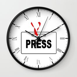 Press ID Card Wall Clock