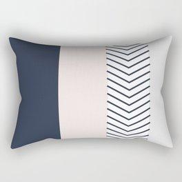 Navy Blush and Grey Arrow Rectangular Pillow