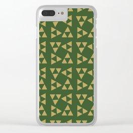 Print 129 - The Legend Of Zelda Triforce Clear iPhone Case
