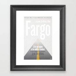 Film Friday No. 6, Fargo Framed Art Print
