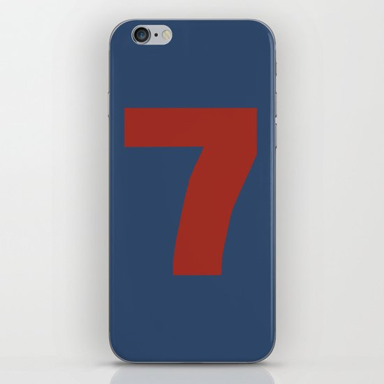 Number 7 iPhone & iPod Skin