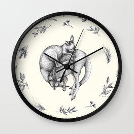Sleeping Joeys Wall Clock
