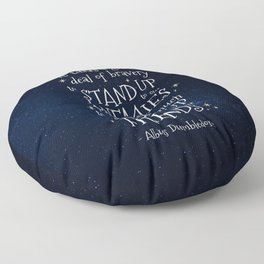IT IS OUR CHOICES THAT SHOW WHAT WE TRULY ARE - HP2 DUMBLEDORE QUOTE Floor Pillow