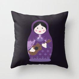 Matryoshka Solo Artist Throw Pillow