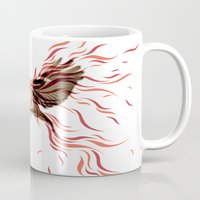 freedom Mugs featuring freedom by Steven Toang