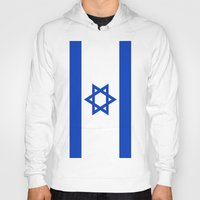 israel Hoodies featuring Flag of Israel by Neville Hawkins