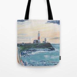 Montauk Lighthouse Tote Bag