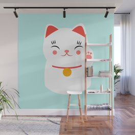 Lucky happy Japanese cat Wall Mural