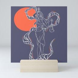 Zodiac Illustration - Libra Mini Art Print