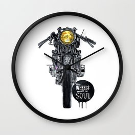 Moto - cafe racer Wall Clock
