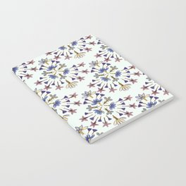 Radiating Flower Collage Notebook