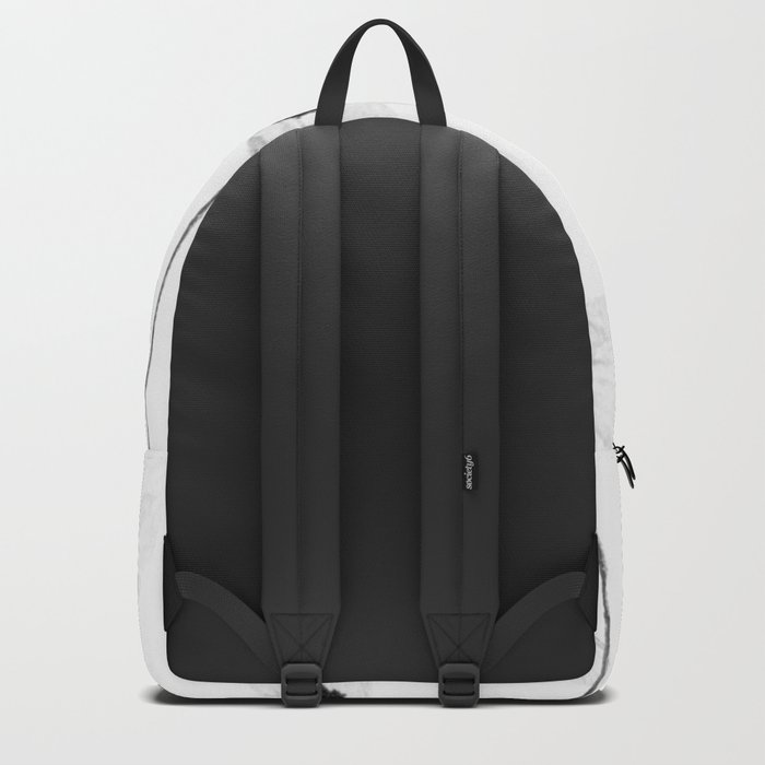 black and white cosmos Backpack