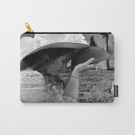 Gilded Memorial Black and White Carry-All Pouch