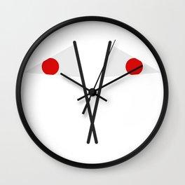 japan flag Wall Clock