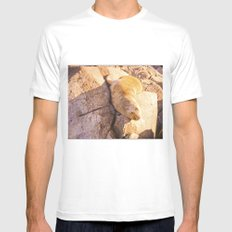 The southern sea lion. White MEDIUM Mens Fitted Tee
