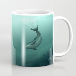 """Siren of the Lagoon"" by Amber Marine ~ Indian River Lagoon Bottlenose Dolphin Art, (Copyright 2015) Coffee Mug"