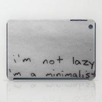 minimalist iPad Cases featuring Minimalist by starvingartist19