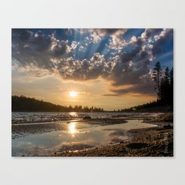 Sierra Nevada Lake Sunset Canvas Print