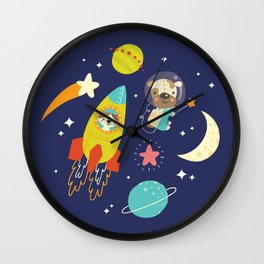 Space Critters Wall Clock