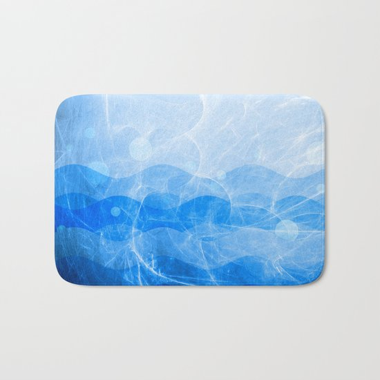 Energy Waves - Blue Version Bath Mat