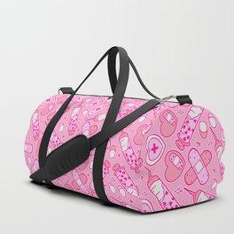 Kawaii Menhera on Pink Duffle Bag
