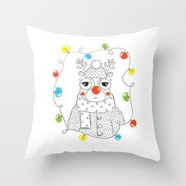 Rudolf Throw Pillow