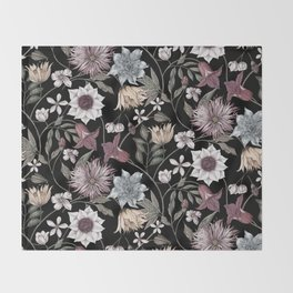 colorful floral pattern II Throw Blanket