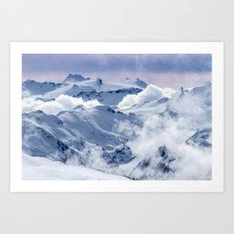 Snowy Mountains and Glaciers Art Print