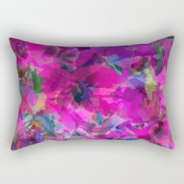 Pink Poppy Jungle Rectangular Pillow