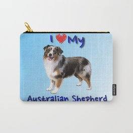 I Heart My Australian Shepherd Carry-All Pouch