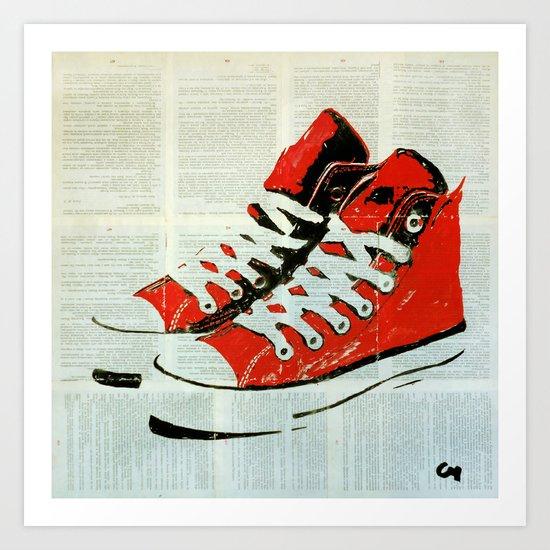 Sneakers. Art Print
