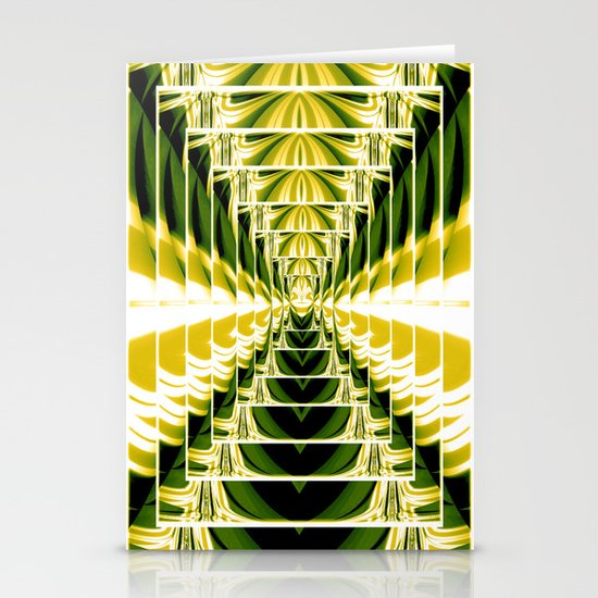 Abstract.Green,Yellow,Black,White,Lime. Stationery Cards