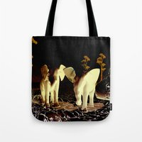 baby elephant Tote Bags featuring Baby elephant by nicky2342