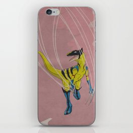 Wolveraptor - Superhero Dinosaurs Series iPhone Skin