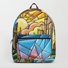 Asgard stained glass style Backpack