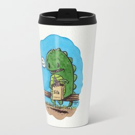 """""""lunch in the city"""" Travel Mug"""