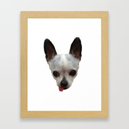 Cute Dog Head Framed Art Print