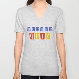 Burger Quiz Unisex V-Neck