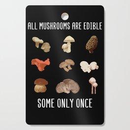 Mushroom Hunter print I Poisonous Mushrooms and Fungi Cutting Board