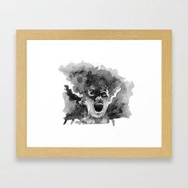 Bride Shrieking Framed Art Print