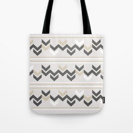 Geometric Arrowhead Charcoal Gold And White Grunge Pattern Tote Bag