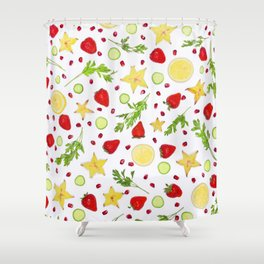 Fruits and vegetables pattern (6) Shower Curtain