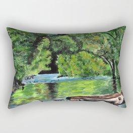 Mountain Stream Rectangular Pillow