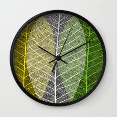 'Natural Dry Leaves' Wall Clock