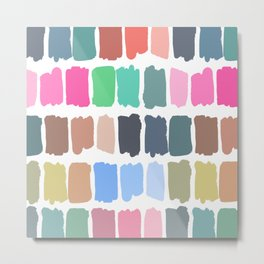 Abstract colorful palette watercolor brushstrokes Metal Print