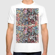 Love wall background MEDIUM Mens Fitted Tee White